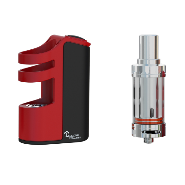 Tesla Stealth 100W Starter Kit Silk Red Vape Drive