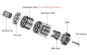 E-cig upper parts