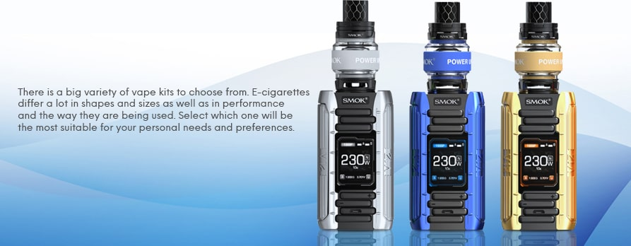 E-cigarettes and vape starter kits online, compare prices